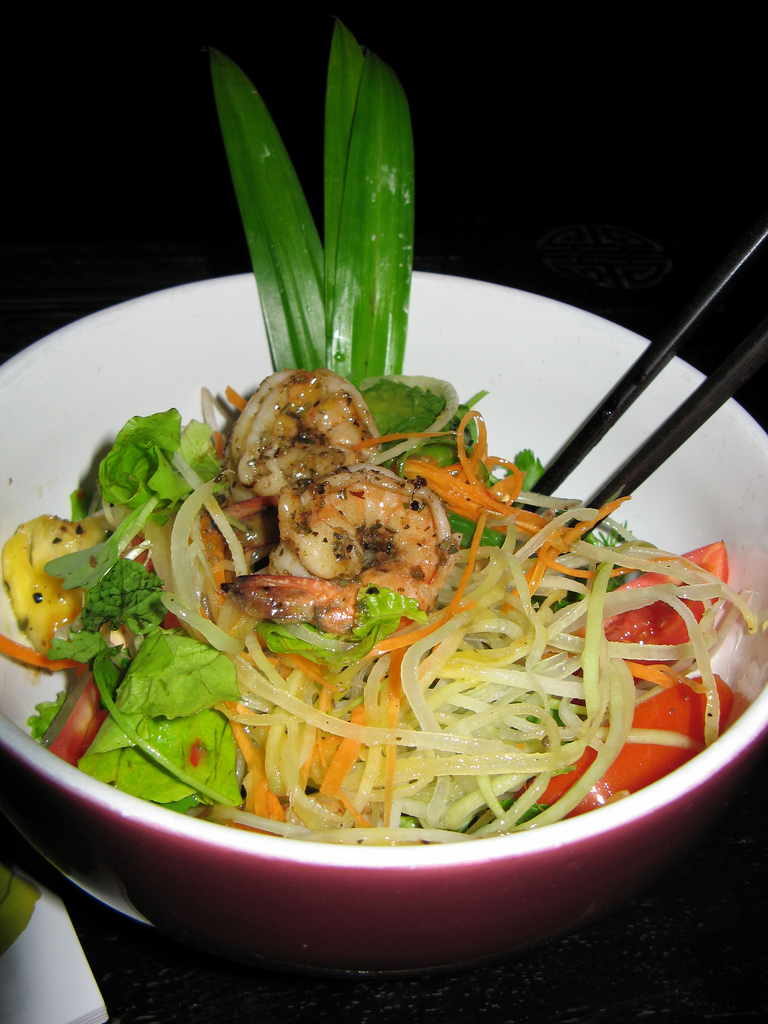 Green papaya salad with shrimp, Mango Rooms, Hoi An