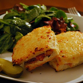 Solo Suppers Beyond Cereal: Croque monsieur