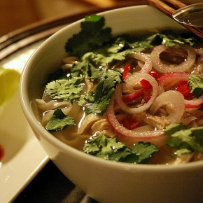 Solo Suppers Beyond Cereal:  Faux pho ga