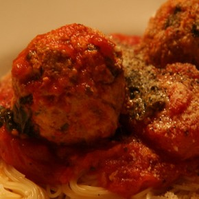 Dinners for Two and a Half: Turkey Meatballs and Spaghetti