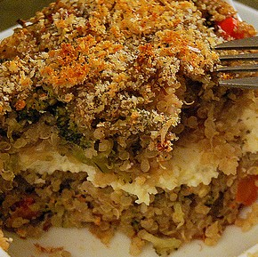 Solo Suppers Beyond Cereal: Baked quinoa