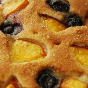 Blueberry-Nectarine Buttermilk Cake