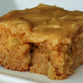 Birthday Apple Blondies with Caramel Icing