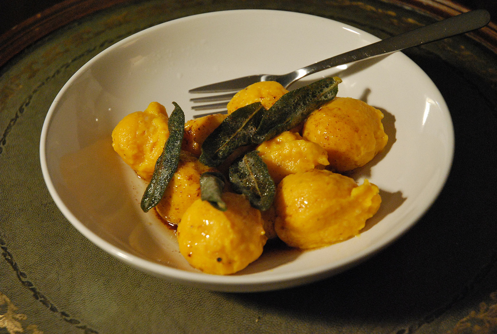 Butternut Squash Gnudi with Brown Butter and Crispy Sage | Cream and ...
